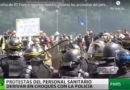 Dos camarógrafos de RT France resultan heridos durante las protestas del personal sanitario en París